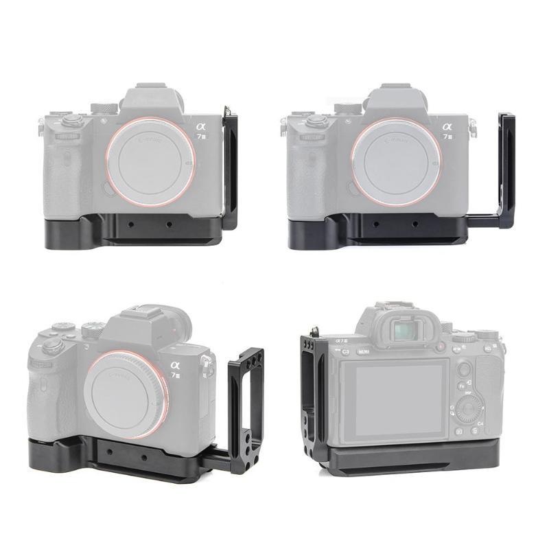 Alliage d'aluminium caméra coulissante Type L plaque à dégagement rapide trépied monopodes plaque de base plaque latérale pour Sony A7M3/A7R3/A9/A7III