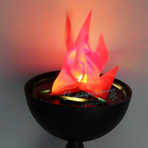 20 cm klokken koperslager halloween scene decoratie vlam led ...
