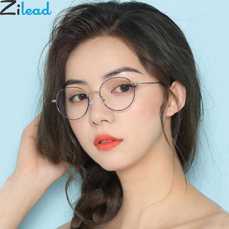 Zilead Metal Round Finished Myopia Glasses For Women&Men Ultralight Prescription Shortsighted Glasses Eyeglasses Unisex