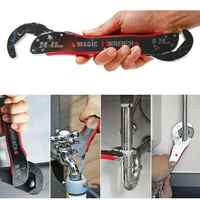 Adeeing 9-45mm Adjustable Magic Wrench Multi-function Universal Spanner Tool Sliver Color 29.5*4.3*4.8CM