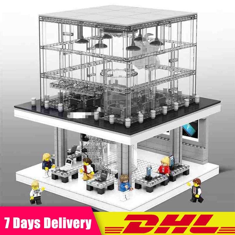 SD6900 1116 piezas de la calle de la ciudad vista Creative LED tienda insignia edificio Compatible LegoINGlys bloques ladrillos juguetes educativos