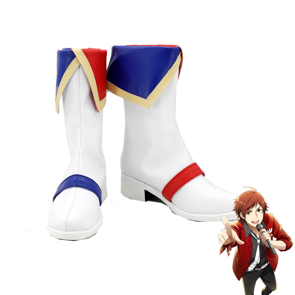 THE IDOLM@STER SideM ANIMATION PROJECT 01 Reason Tendou Teru Boots Men Cosplay Shoes