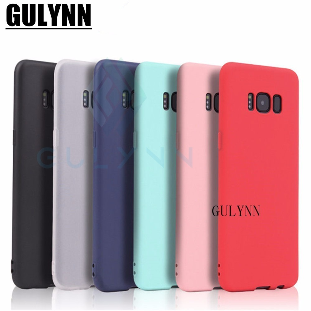 GULYNN Cute Candy Colors Soft TPU Case For Samsung Galaxy A3 A5 A7 A6 A8 S8 S9 J3 J4 J5 J6 2017 2018 Plus Note 8 9 Cover