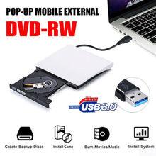 Slim External USB 3.0 DVD RW CD Writer Drive Burner Reader Player For Laptop PC Hot DVD Players usb 3 0 slim external dvd rw dvd writer hard drive for macbook pro air pc laptop netbook high quality