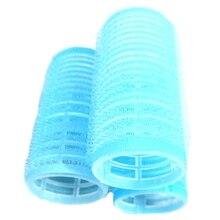 Blue Self Grip 30Mm Buckle Hair Rollers (12 Total)