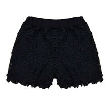 Summmer Women Shorts HOT Summer Casual Elastic High Waist Lace Hollow Out Floral Solid Hot