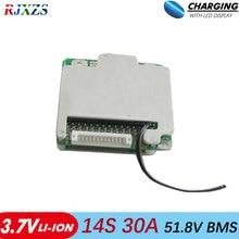 14 S 30A bms ใหม่ Li   Ion 48 V 30A BMS PCM พร้อมสมดุลไฟฟ้าไฟฟ้ารถ 30a bms