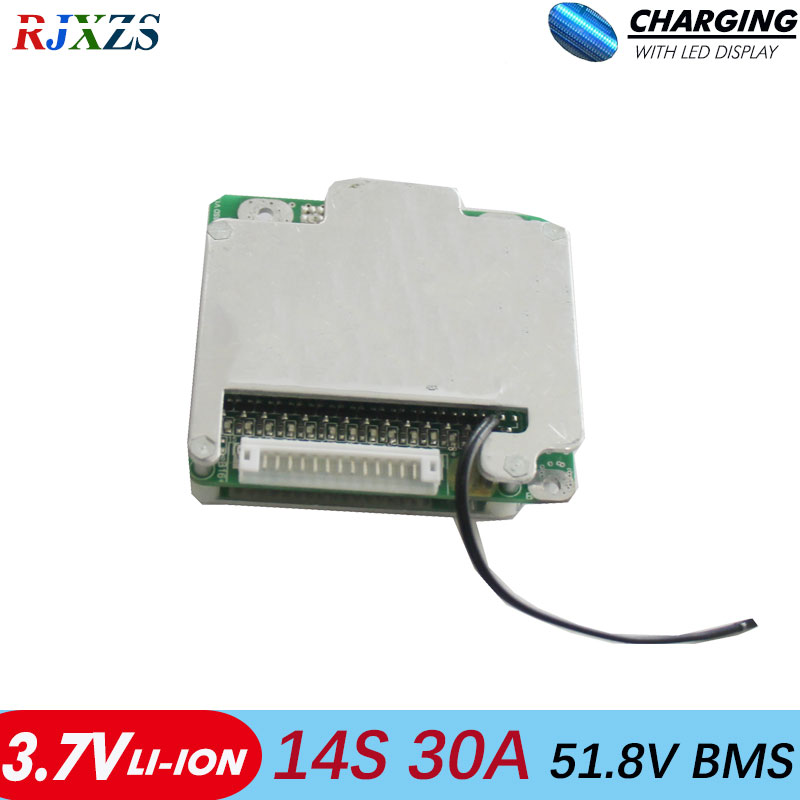 14S 30A bms new Li ion 48V 30A BMS  PCM  with balance for electric bike electric car 30a bms-in Integrated Circuits from Electronic Components & Supplies