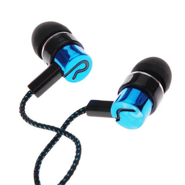Auriculares estéreo deportivos en la oreja 3,5mm auriculares con cable auriculares más moda trenzados cable LÍNEA DE AURICULARES Tpye para teléfono móvil