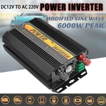 Inverter 12V 220V 6000W Peaks Auto Modified Sine Wave Voltage Transformer Power Inverter Converter Car Charge USB 3000W