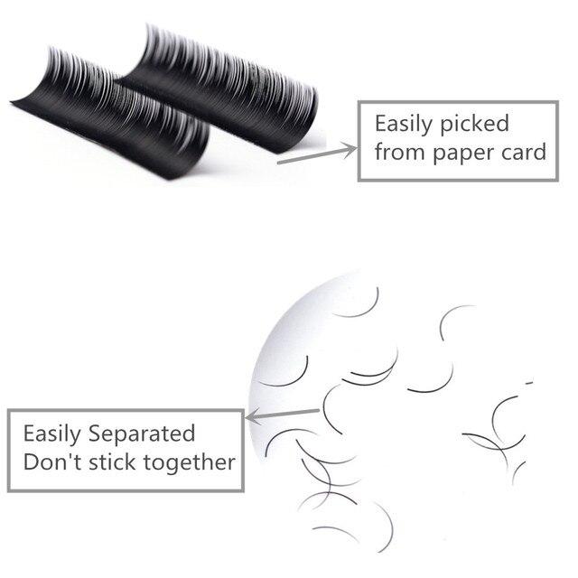 NEWCOME 10 trays/lot All Sizes Individual Eyelash Extension Natural False Mink Russian Volume Eyelash Extensions Makeup Cilia 5