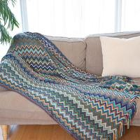 Bohemian Knitted Tassels Sofa Blanket Thread Couch Blanket Sleeping Rugs Soft Bed Plaid Vintage Home Decor Tapestry