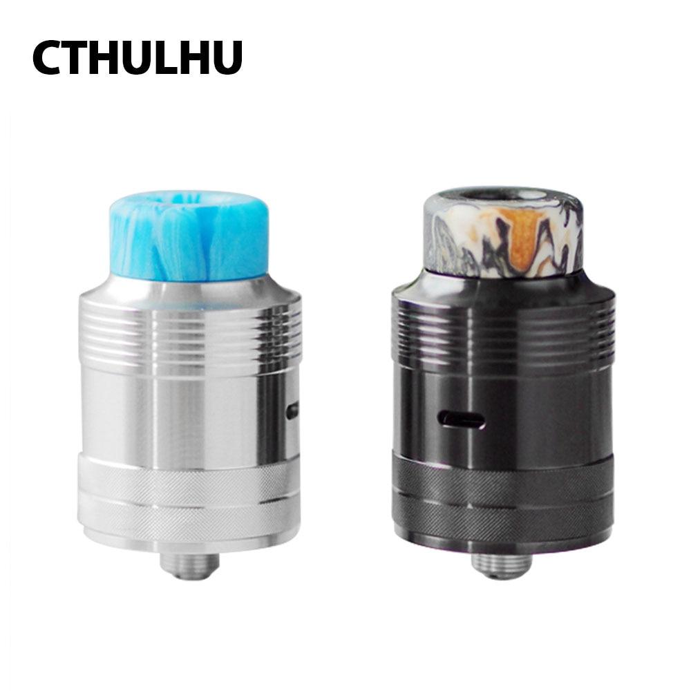 Original Cthulhu Mjolnir RDA 24mm Diameter Single Coil Tank With Double Chamber & BF Pin Fit Squonker MOD Vape Vs Tauren RDA