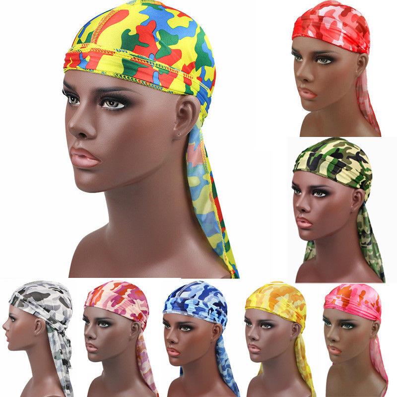 Apparel Accessories Men's Headbands Silk Durag Satin Mens Durags Wig Bandanna Pirate Hat Bandeau Cheveux Women Head Wrap Elastic Headband