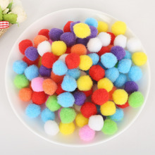 100 Pieces/Lot 10/15/20/25/30 mm Poms Pompoms Ball Handmade Kids Toys Mini Fluffy Soft Pom DIY Sewing Craft Supplies