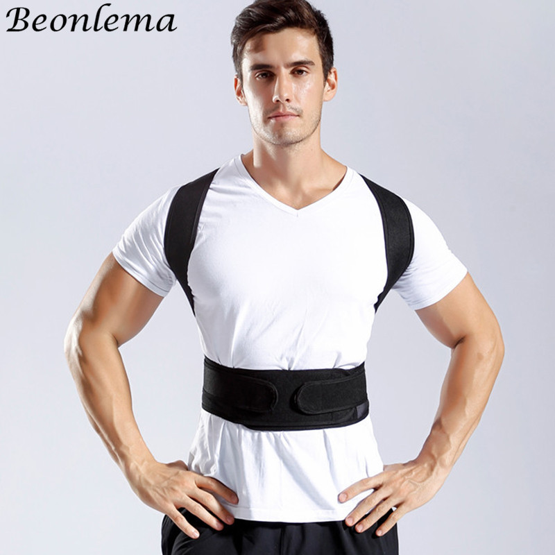 Beonlema Men Posture Modeling Strap Faja Hombre Back Supporting Shaper Man Breast Shaping Cincher S-4XL
