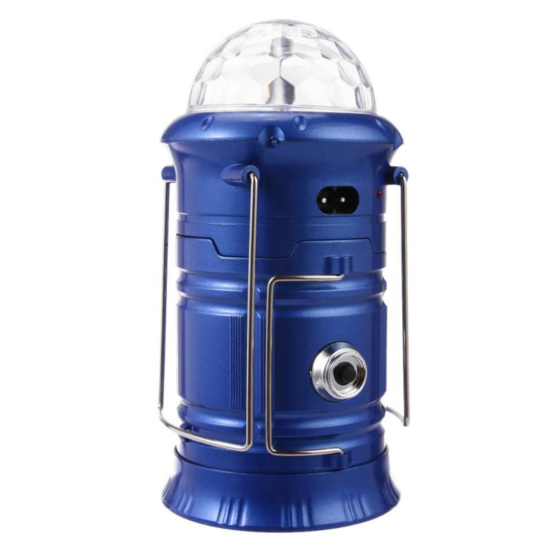 Rechargeable LED Lantern Camping Night Light Flame Lamp Stage Light EU Plug Lighting Effect Lamp Light Music Christmas KTV