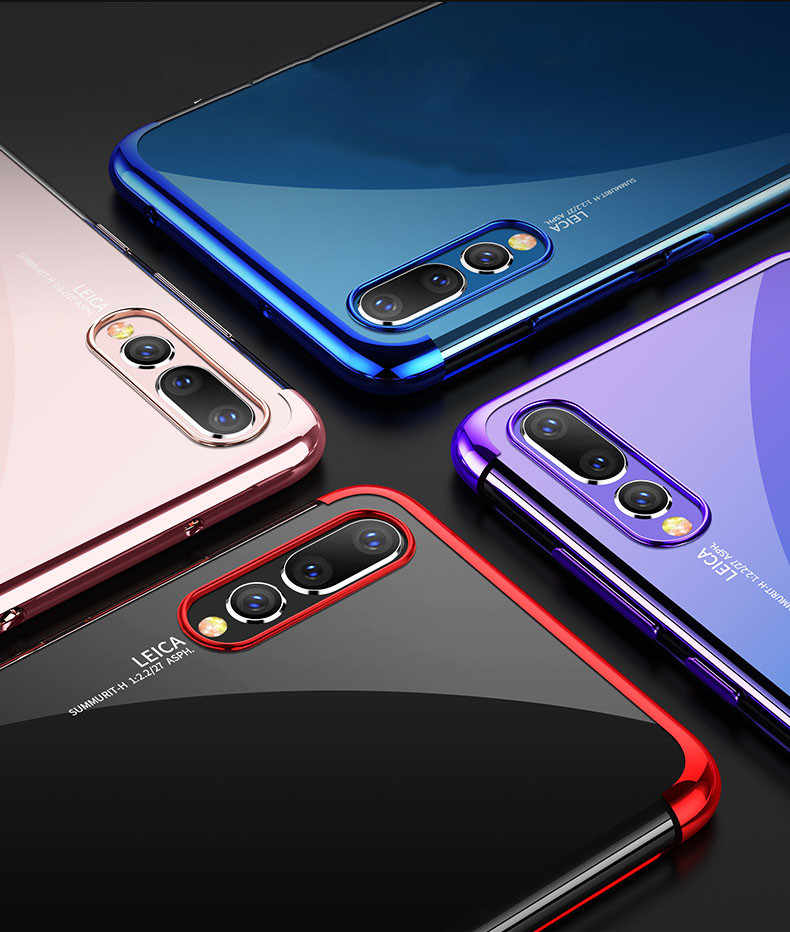 Luxury Plating Soft TPU Case For Huawei Mate 10 20 Pro Lite P Smart 2019 P10 P20 P30 Pro Lite P9 Plus P8 lite 2017