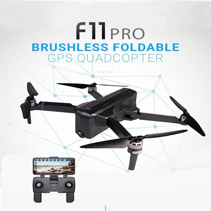SJRC F11 PRO GPS 5G Wifi 500 m K Ampla Ângulo Da Câmera FPV Com 2 28 Minutos de Tempo de Vôo brushless Dobrável RC Drone Quadcopter RTF