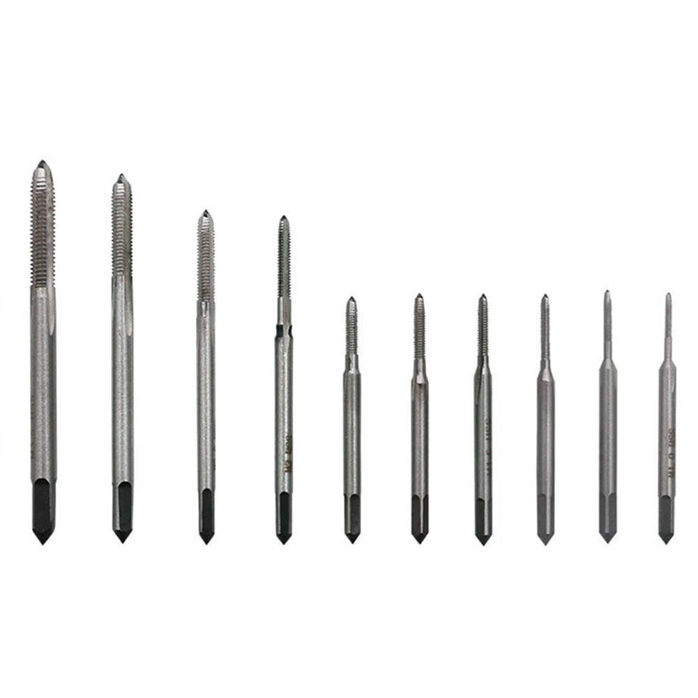 10pcs M1-M3.5 Stahl Hand Gewindebohrer Gewinde Werkzeug Für Form Bearbeitung