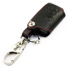 Genuine Leather Car Key case for TOYOTA 86 Zelas Prius VX Crown 2010 Camry black color key wallet 2016 ADDAN auto accessories