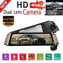 hot deal buy phisung 9.35 inch ips 1080p fhd car dash camera car electronics dual lens k1000 car dvr camera rearview mirror video recorder