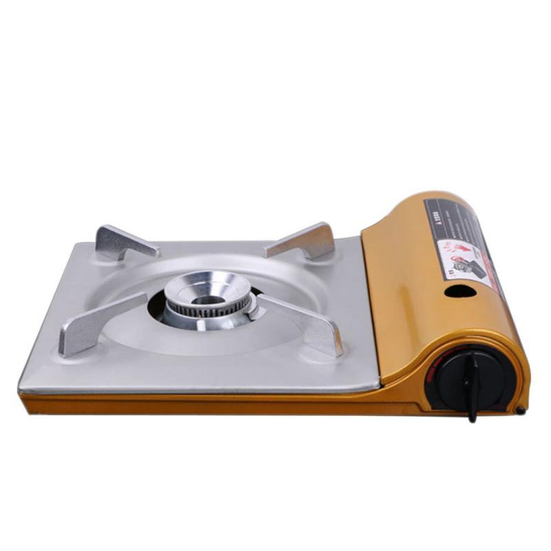 Ultra-Mince En Plein Air Réchaud de camping Portable Cuisinière À Gaz De Fer Compact Réchaud À Alcool En Plein Air Cuisine Fournitures