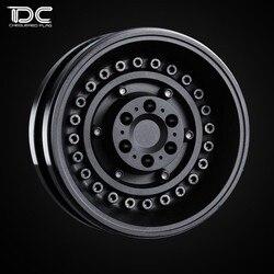4 sztuk 1.9 cal wysokiej jakości 6061 CNC ze stopu felgi dla 1/10 zdalnie sterowany samochód gąsienicowy TRX4 Bronco RC4WD D90 osiowe Scx10 90046 w Części i akcesoria od Zabawki i hobby na