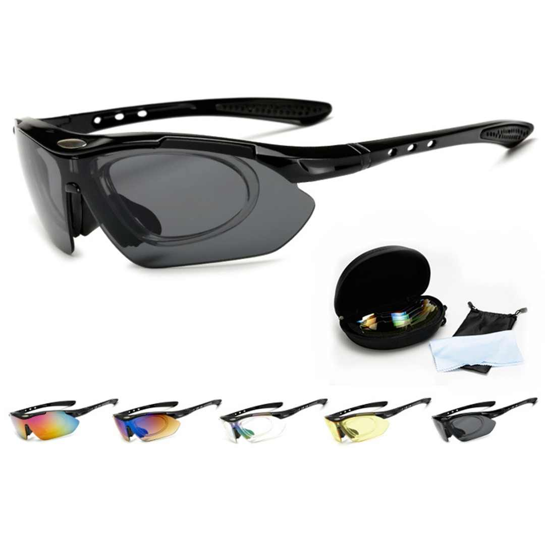 194c1f0241e Cycling Glasses Outdoor Sports Bicycle Glasses Sunglasses Set With Interchangeable  Lens UV Protection For Bicycle Motorcycle