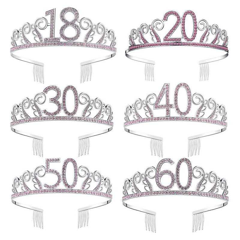 Bride Crown Popular Rhinestones High-Grade Crown Headdress Wedding Accessories Tiara 18 20 21 30 <font><b>50th</b></font> <font><b>Birthday</b></font> Crown <font><b>Party</b></font> Favor image