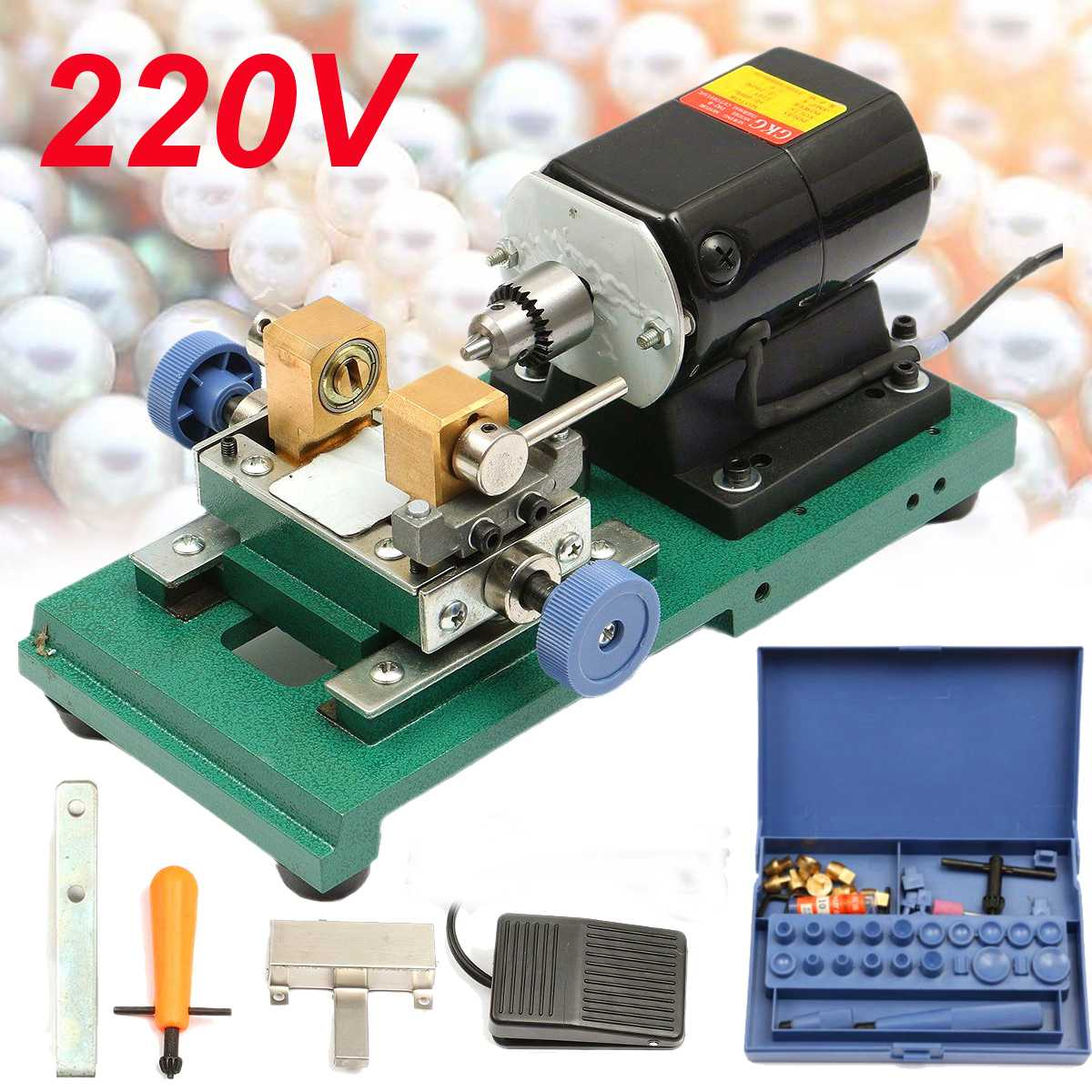 220V 360W Pearl Drilling Holing Machine Maker  Gold Control Set Full Set Tool