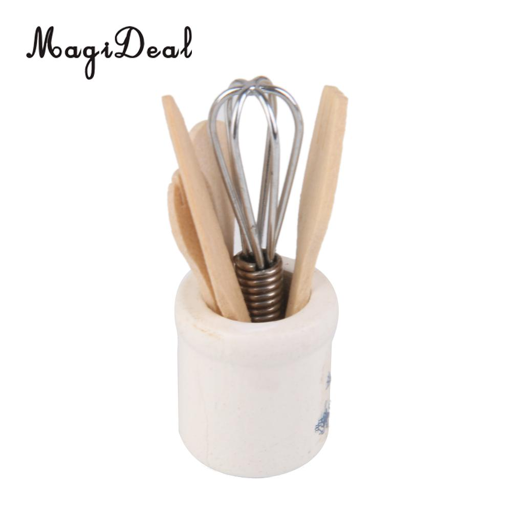1//12 Dollhouse Miniature Accessories Kitchenware Set with Eggbeater Spoon