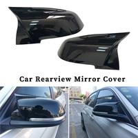 2pcs Gloss Blac Car Rearview Mirror Cover ABS Plastic For BMW F20 F21 F22 F30 F32 F36 X1 F87 M3