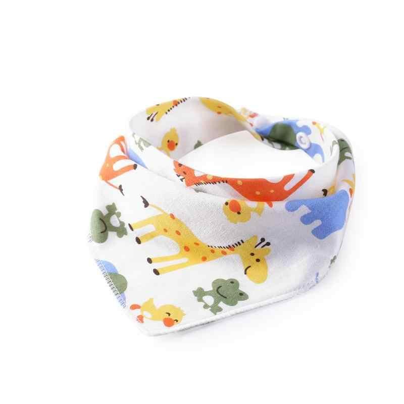 เด็ก Bibs สามเหลี่ยมผ้าขนหนูผ้าฝ้ายแรกเกิดผ้าเช็ดตัวดูดซับผ้าสามเหลี่ยมผ้าพันคอเด็กทารกผ้าเช็ดตัว PNLO