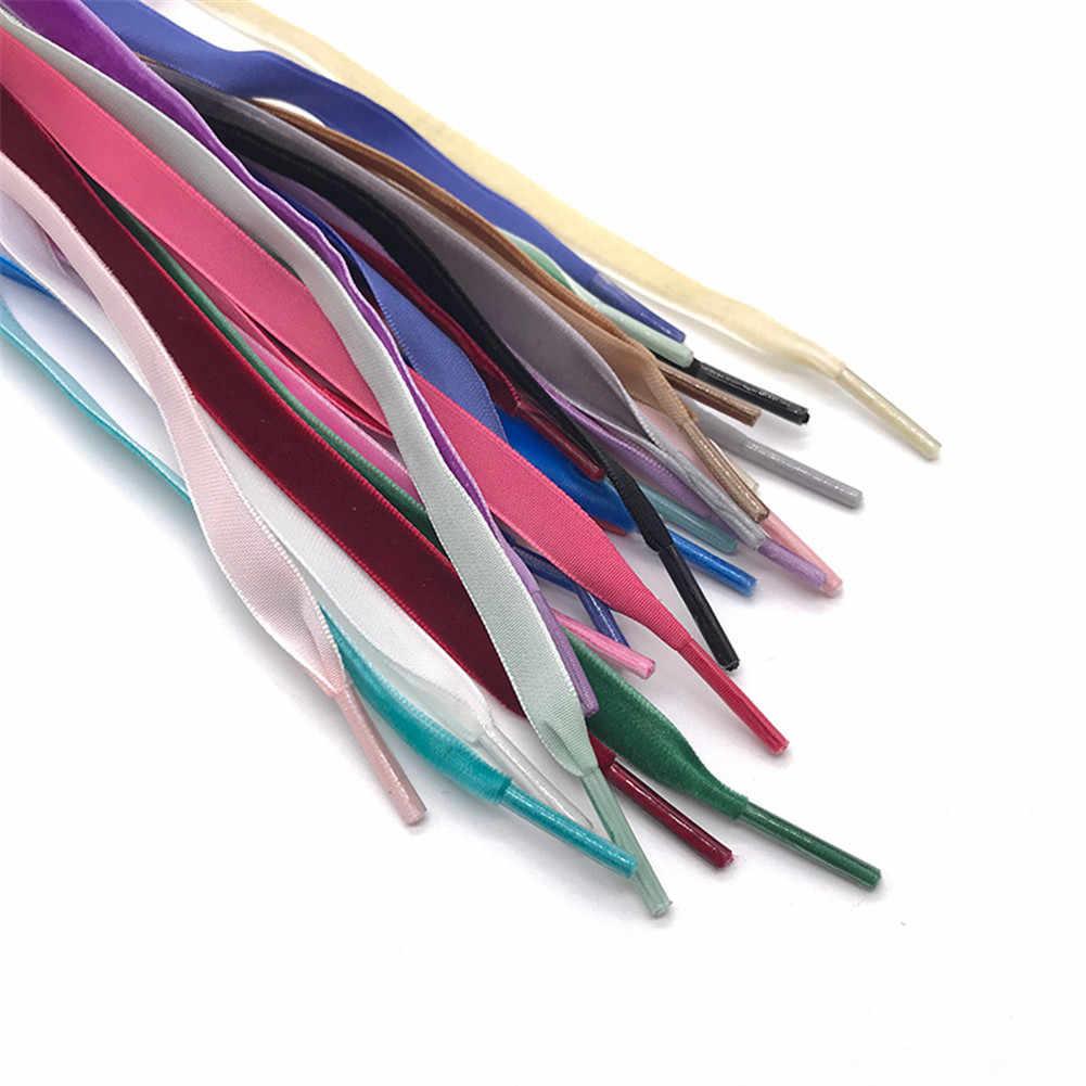 80/90/100/120 cm Lengte Fluwelen Oppervlak Schoenveters Vrouwen Mannen Zwart Wit Roze Kleurrijke Lederen Sport casual Schoenen Veters