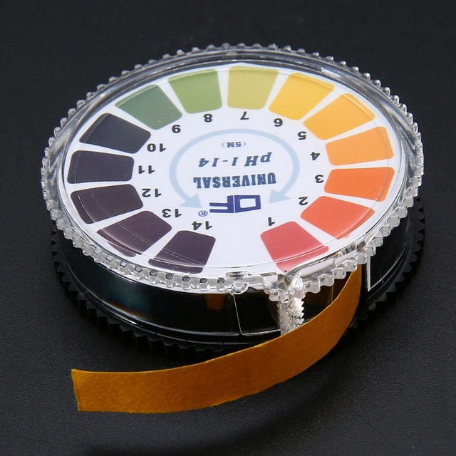 5 Meter 1-14 PH Alkaline Acid Indicator Test Paper Universal for Garden Soil Water Quality Measure Test Paper 1 Roll