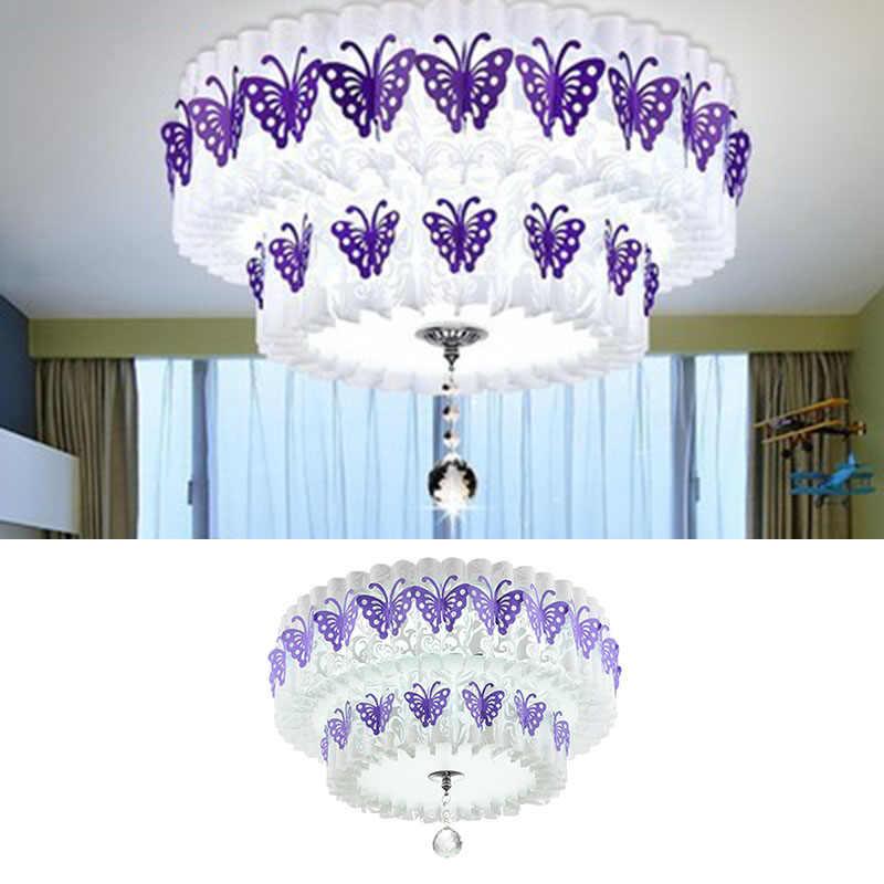 Бабочка узор 2 слоя Многоуровневое DIY абажур для люстры Потолочный подвесной светильник подвесные светильники абажур крышка
