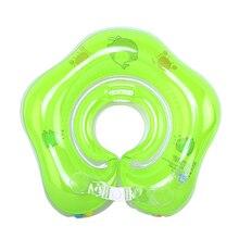 Bebé anillo para nadar para cuello inflable recién nacidos baño círculo seguridad piscina accesorios cuello flotador aro