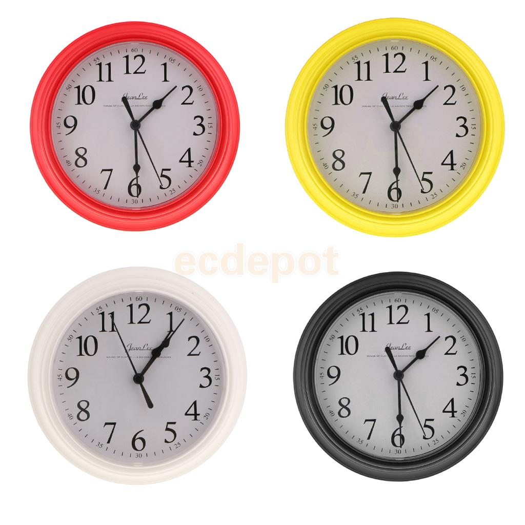 9 Inch Silent Universal Round Wall Clock - AA Battery Operated - Colorful Analog Clock Great For Home Office