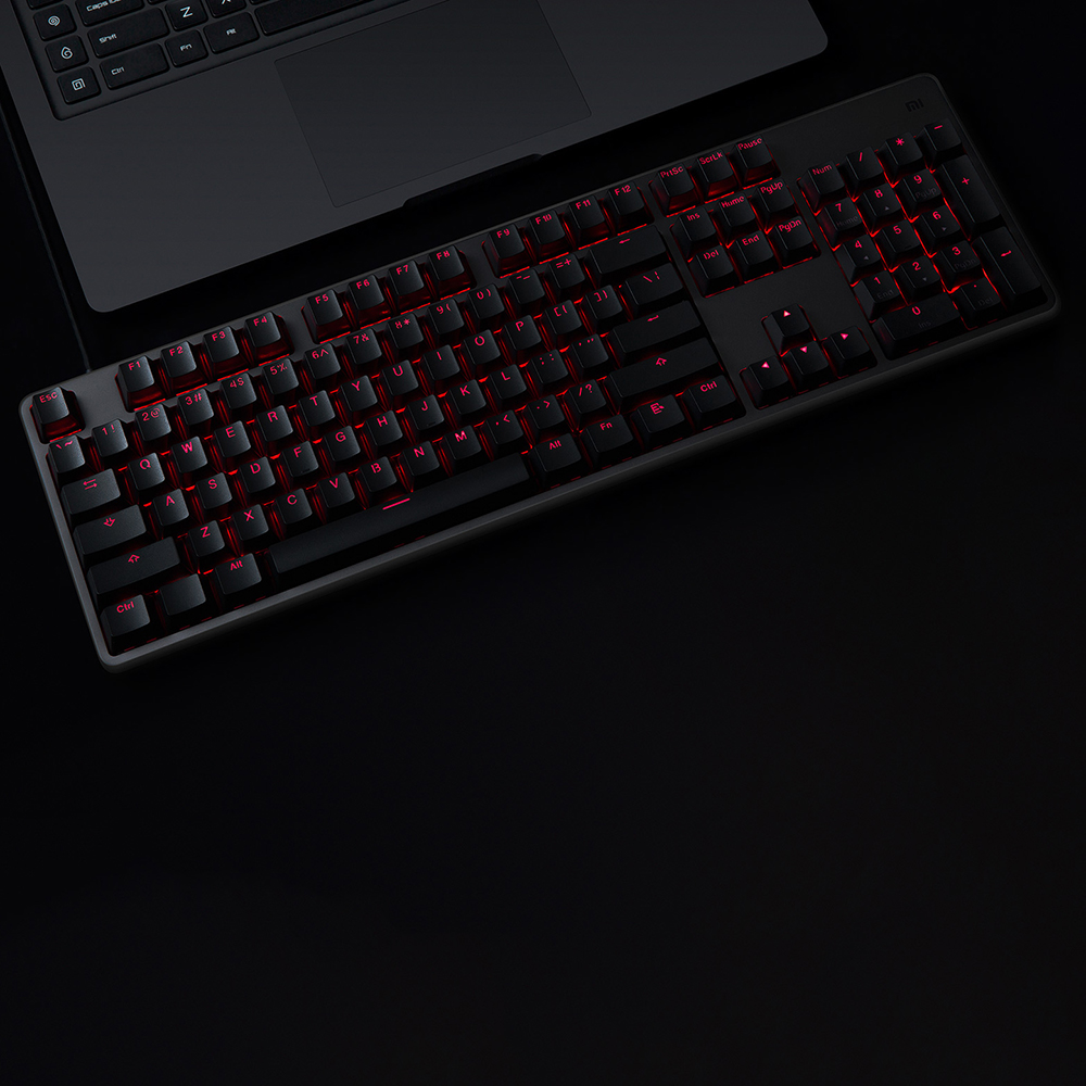 Image 3 - Original Xiaomi Gaming Mechanical Keyboard With RGB Backlight USB 104 Keys Aluminum Alloy Cover Keycaps Keyboard Waterproof-in Keyboards from Computer & Office