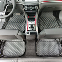 Special 100% fit car floor mats for Peugeot 206 207 2008 301 307 308sw 3008 408 4008 508 leather Anti slip liners