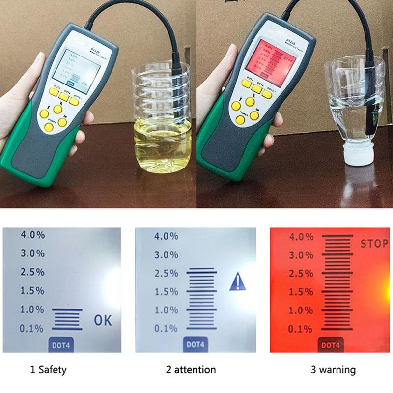 Car Brake Fluid Tester Digital Brake Fluid Inspection Check Car Brake Oil Quality LED Indicator Display DY23B Diagnostic Tool