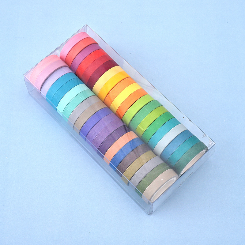 40 Pcs/lot Creative Washi Tape Candy colors Stickers DIY Album Decoration Adhesive Hand Account Tape Masking Tape 4M