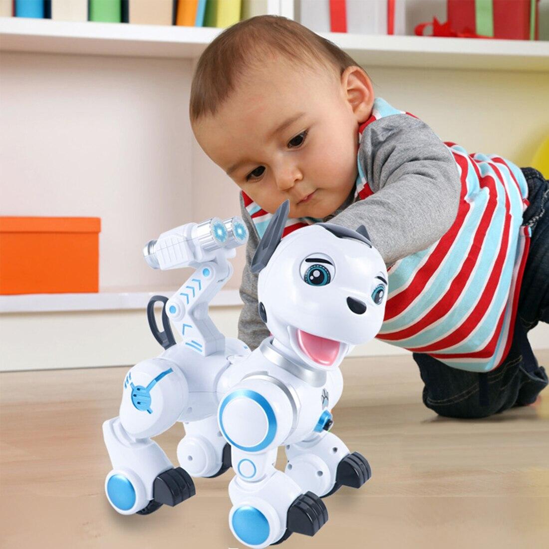 Enfants Tôt Éducation Pet Chien Intelligent RC Robot Intelligent Patrouille Jouet Pour Chien avec Danse Clin D'oeil pour Enfant Cadeau D'anniversaire - 3