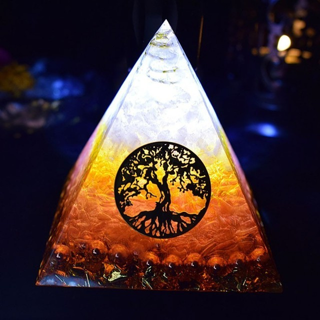 Tree of Life Orgone Pyramid