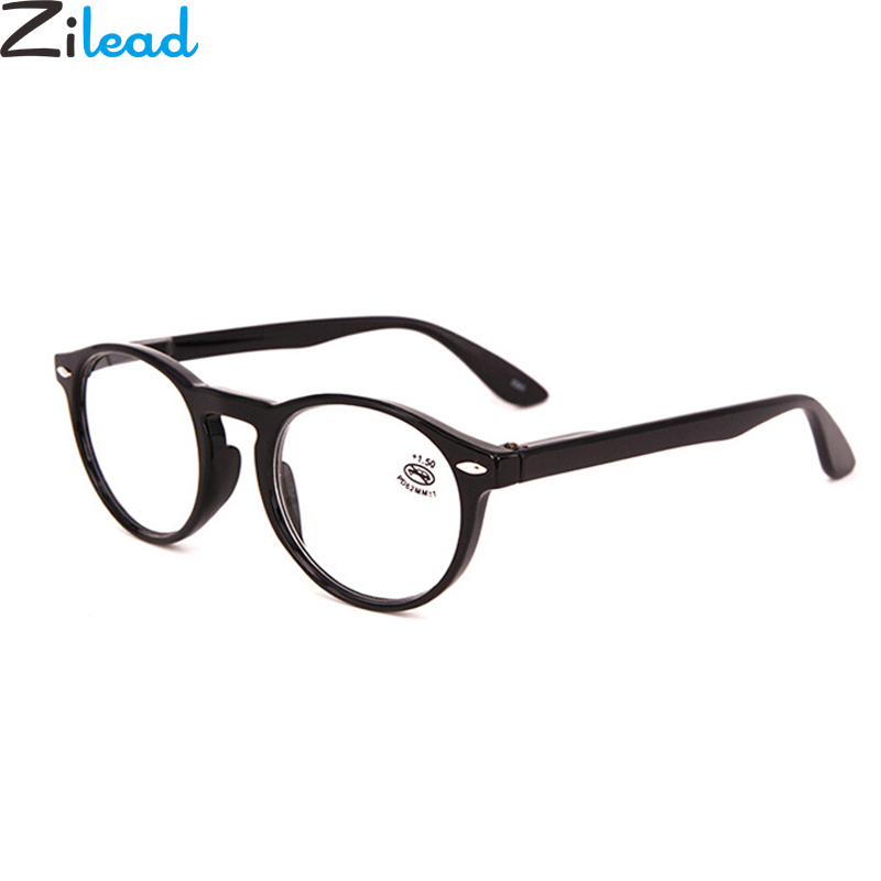 Zilead Retro Round Reading Glasses Women&Men Transparent Lens HDPresbyopic Eyeglasses 0 +1.0 +1.5 +2.0 +2.5 +3.0 +3.5 +4.0