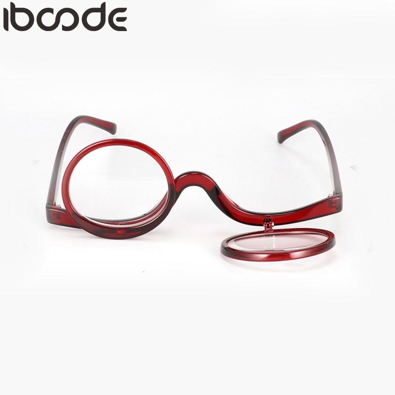 2af8c4df5f6 iboode Magnifying Glasses Rotating Makeup Reading Glasses Women Folding Eyeglasses  Cosmetic General Spectacle Presbyopic Eyewear