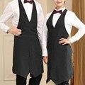 Длинный черный фартук из полиэстера бариста для ресторана  отеля  официанта  униформа для общественного питания  для отдыха  бистро  бармена...