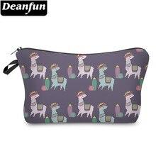 Купить с кэшбэком Deanfun Waterproof Hat Llamas Cactus Cosmetic Bags Woman Fashion Alpaca Makeup Bag Organizer Bag Dropshipping 51384