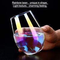 500 мл Радужный бокал цветные для вина стеклянные хрустальные бокал для коктейлей кофейная Свадебная посуда поставка посуда для бара